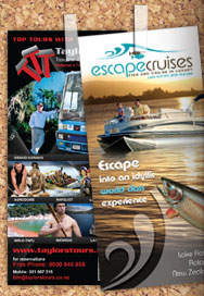 Printing material for Taylor's Tours and Escape Cruises